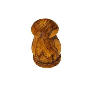 Naturalna solniczka z drewna oliwkowego