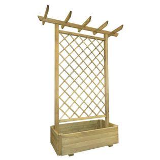 Drewniana pergola z donicą 162x56cm