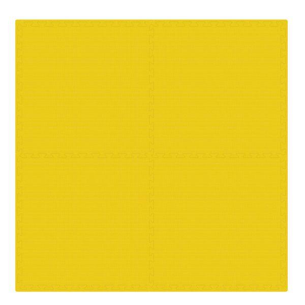 PUZZLE PIANKOWE MATA 4szt 62x62x1,1 cm Żółty na Arena.pl