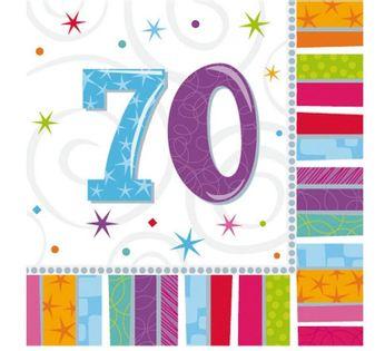 SERWETKI urodziny cyfry 70, i 30, 40 ,50, 60, 80
