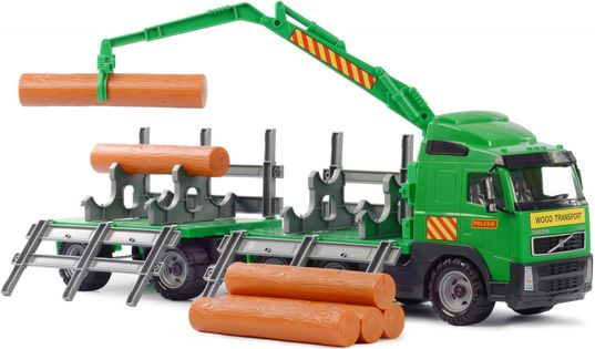 Wader 8725 ogromna ciężarówka volvo do transportu bali