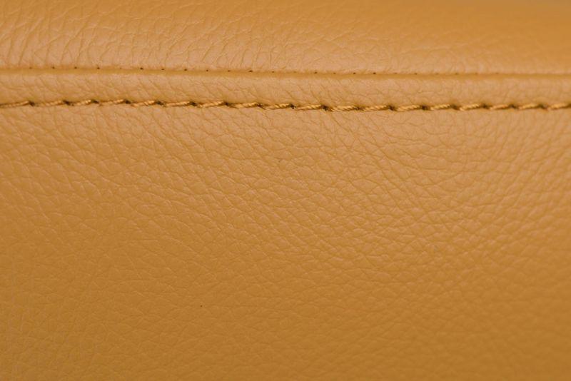 Podnóżek Jajo Soft skóra eko 535 musztardowy  D2 zdjęcie 2