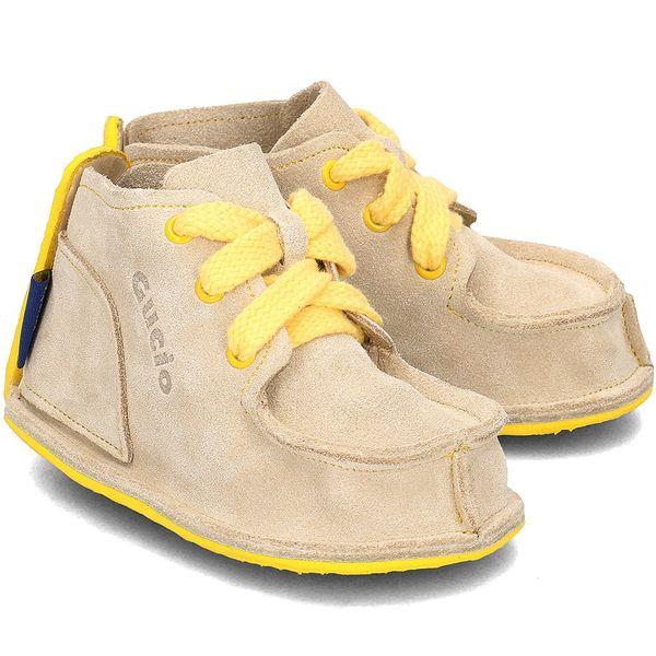 GUCIO Żółte Domowe Dziecięce Zamsz Buty R.27