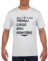 Koszulka męska NA SILOWNIE TRENUJ ZJEDZ SPIJ  M