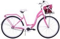 (K4) Rower miejski damski Kozbike 28 różowy 3 biegi