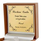 Złoty komplet 585 serce Prezent Walentynki GRAWER zdjęcie 3