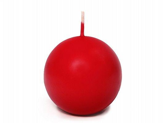 Świeca w kształcie kuli 6cm, kolor czerwony zdjęcie 1