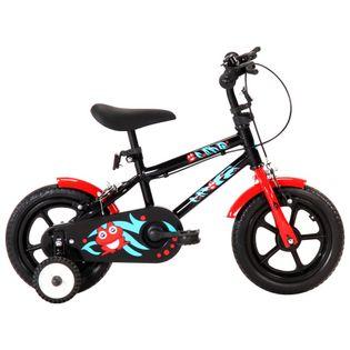 Rower dla dzieci, 12 cali, czarno-czerwony
