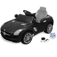 Samochód elektryczny dla dzieci Czarny Mercedes Benz SLS 6 V z pilotem