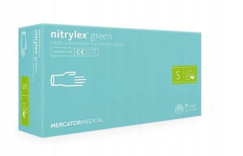 Rękawice nitrylowe nitrylex green S karton 10 x 100 szt na Arena.pl