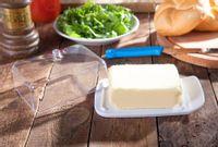 Maselniczka / maselnica plastikowa z przeźroczystą pokrywką MS Tworzywa Dla Domu Good Morning