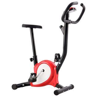Rower do ćwiczeń z paskiem oporowym czerwony VidaXL
