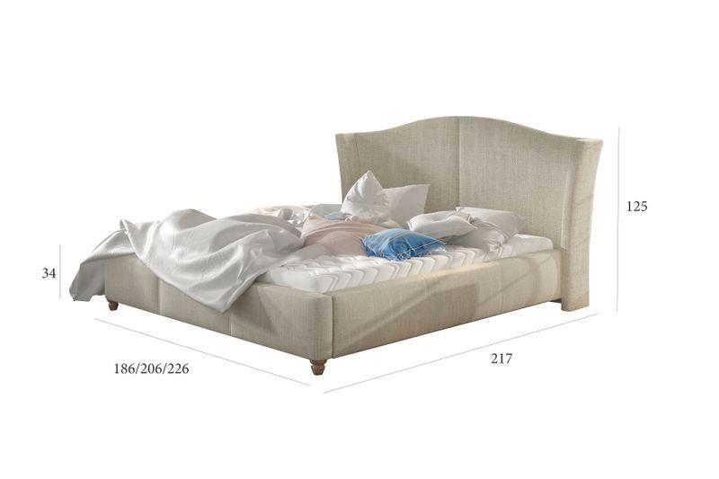Łóżko Tapicerowane CHARLI 160x200+stelaż zdjęcie 3