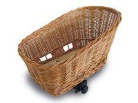 Kosz na tylny bagażnik BASIL PASJA dla zwierząt 45cm + SENNA system clamp device, wiklinowy varnished natural