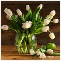 OBRAZ DRUKOWANY  Kremowe tulipany 50x50