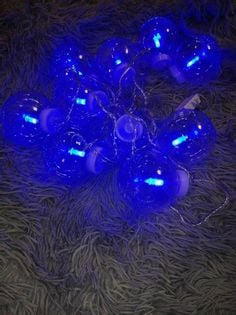 Lampki choinkowe kule led światłowód blue+czapka