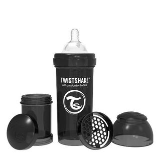 Twistshake Butelka antykolkowa Czarna - 260 ml