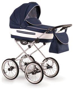 Eleganto wózek dziecięcy retro Lonex 3w1 granatowy