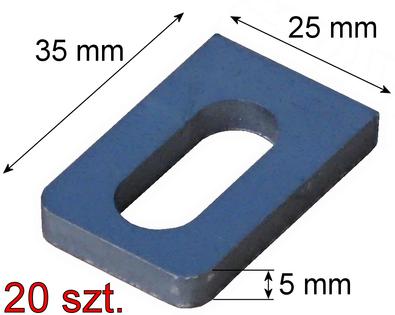 Uchwyt mocowanie przęsła 25x35x5mm, 20 szt. (0,90 zł/szt.)