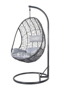 Fotel wiszący ze stojakiem ciemnoszary/szary Bozzollo