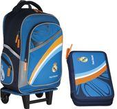 Plecak szkolny na kółkach Real Madyt + piórnik !!! zdjęcie 1