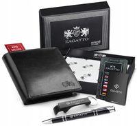 Zagatto Mały portfel męski skórzany RFID premium 109-BAR-2