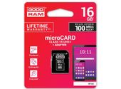 Karta SD 16GB micro+adaptor GOODRAM class 10