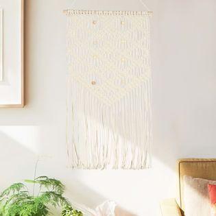 Lumarko Makrama ścienna, 40 x 80 cm, bawełniana
