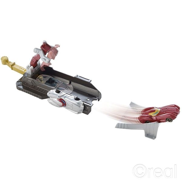 Hot Wheels Avengers Tor Wyrzutnia Iron Man zdjęcie 5