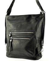 Plecak torebka 2w1 plecako torba czarna worek A4 damska