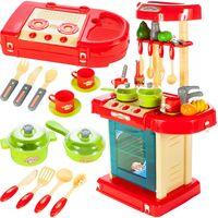 Kuchnia dla dzieci z  piekarnikiem i akcesoriami w walizce NIEBIESKA