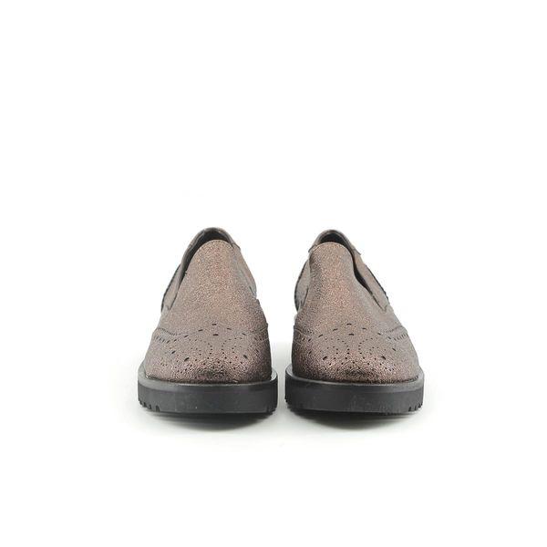 06b2f7f9 Made in Italia skórzane buty damskie pantofle lordsy brązowy 38 zdjęcie 5