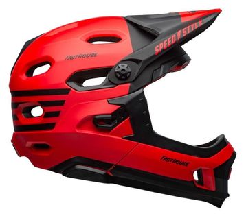 Kask full face BELL SUPER DH MIPS SPHERICAL fasthouse matte gloss red black roz. S (52–56 cm) (NEW)