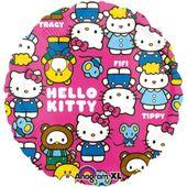 Balon foliowy okrągły HELLO KITTY kotek 17 cali