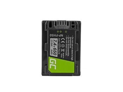 Bateria Green Cell ® Np-Fh50 Do Sony Dcr-Hc45, Dcr-Sr300E, Dcr-Sr70, Dcr-Sx50E 7.4V 650Mah