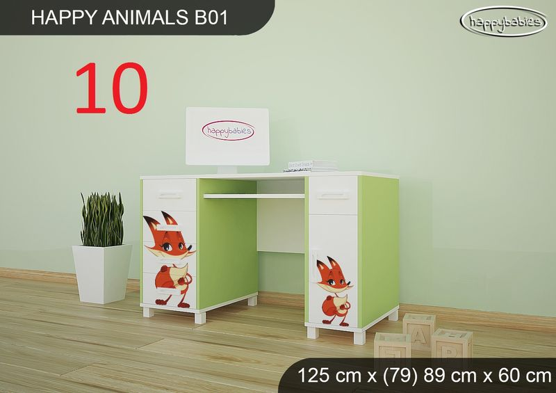 BIURKO DZIECIĘCE  HAPPY ANIMALS B01 AM01 Zielone zdjęcie 23