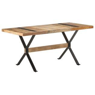 Lumarko Stół jadalniany, 160 x 80 x 76 cm, surowe drewno mango
