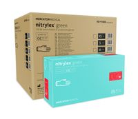 Rękawice nitrylowe nitrylex green L karton 10 x 100 szt