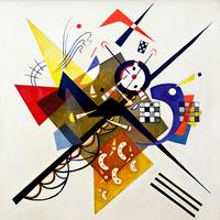 Reprodukcje obrazów On white II - Wassily Kandinsky Rozmiar - 55x55