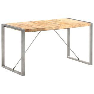 Stół jadalniany, 140 x 70 x 75 cm, surowe, lite drewno mango