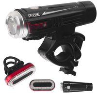 Lampa p+t /akumulator/ ProX CRATER SET USB 880+50Lm, czarna