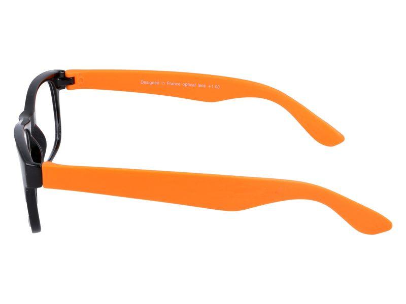 okulary korekcyjne damskie czarno pomaranczowe