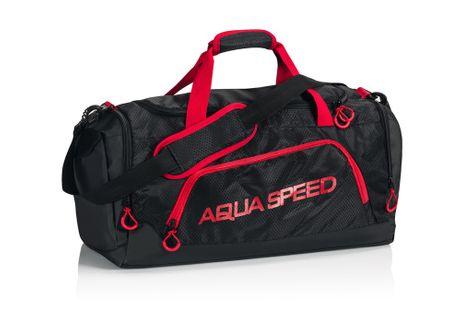 Torba sportowa AQUA-SPEED roz. L 55x26x30 cm Kolor - Akcesoria - Torba sportowa - 31 - czarny / czerwony