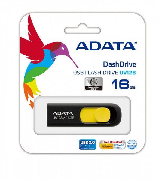 Adata Pendrive  DashDrive UV128 16GB USB 3.2 Gen1 czarno - żółty na Arena.pl