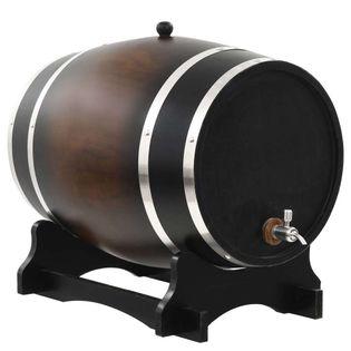 Beczka Na Wino Z Kranikiem, Lite Drewno Sosnowe, 35 L