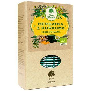 Herbata z kurkumą Eko 25x2g Dary Natury