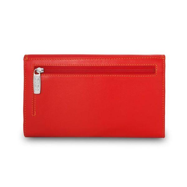 Skórzany portfel damski DuDu®, 534-1165 czerwony zdjęcie 4