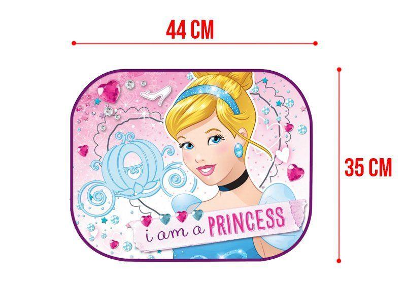 Samochodowe osłonki, zasłonki przeciwsłoneczne 44x35cm, 2 szt., Disney Księżniczki na Arena.pl