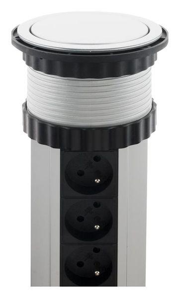 LISTWA ZASILAJĄCA CHOWANA W BLAT 3 GNIAZDA 16A + 2 USB (760063) zdjęcie 4