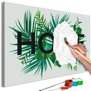 Obraz do samodzielnego malowania - Home na liściach